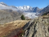 Aletschgletscher; Rothorn 3271m, Olmenhorn 3314m, Gross Grünhorn  4043m, Fiescherhörner, Gross Wannenhorn 3905m, Klein Wannenhorn 3706m, Strahlhorn 3026m, Oberaarhorn 3637m, Eggishorn 2926m