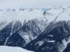 Schwarzhorn 3108m, Punta Gerla 3112m, ; vorne Breithorn 2599m; hi , Gischihorn  3083m,  Vorderer Helsen 3106m, Helsehorn 3372m