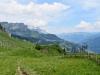 auf dem Abstieg vom Rietstöckli;  Blick auf Eggstöcke, Glärnisch Massiv, re Braunwald