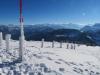 Sicht vom Rigi Kulm gegen Rigi Hohflue; eisiger Winter