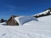 viel Schnee auf dem Risipass 1459m