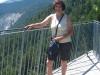 """Marianne auf """"il  Spir"""" der Aussichtsplattform Conn"""