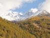 Lagginhorn 4010m, Weissmies 4023m; Alp Trift mit Café Trift