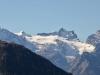 Krönten 3108m,  Zwächten 3079m,  Glattgletscher, Glattstock 3048m, Gross Spannort 3198m,  Schlossberg 3132m