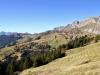 Sicht hinüber gegen die Eggberge; Hagelstock 2181m, Diepen 2222m, Spilauerstock 2270m, Rossstock 2461m,