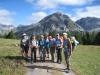ein Teil der Gruppe vor dem Piz Nair 3010m, Piz Tavrü 3168m