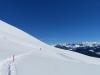Gehnen in einsamer Schneelandschaft;  Güpfi   und Gibel