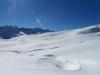 wunderbate Winterlandschaft mit Tüfengrat;  hi Rosenhorn 3689m, Mittelhorn 3704m, Wetterhorn 3692m, Garzen 2515m, Wildgärst 2890m, Gärsthorn