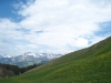 Blick zu Vilan, Glegghorn und Sassauna 2308m, Pfäwi 2301m, Lägens Sagettis 2278m