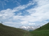 Hocheben bei Aschüel; Sassauna 2308m,  Grat vorne; hi Schafköpfe 2806m, Schesaplana  2965m