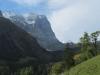 Rosenhorn 3689m, Mittelhorn 3704m, Wetterhorn 3692m, Scheideggwetterhorn 3361m  ; Mönch und Eiger