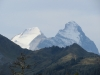Mönch und Eiger ragen über der grossen Scheidegg hervor