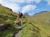 Bruni beim Aufstieg auf das Grindelband; mit Schwarzhorn, Gärsthorn