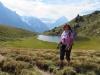 Marianne am Hornseeli 2147m mit Eiger