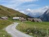 Scheidegg Oberläger 1950m; hi Pfaffenhuet 3009m, Titlis 3238m, Gross Spannort 3198m, Fünffingerstock 2998m