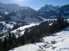 Sicht auf Gypsera, Schwarzsee und Spitzflue und les Reccardets