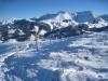 beim Abstieg zum Schwarzsee: Blick auf die Kaiseregg