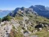 der Weg hinüber zum Oberberghorn 2069m; hi  Rote Flue 2295m, Loucherhorn 2231m, Ussri Sägissa 2423m, Winteregg 2561m,  Bira 2453m