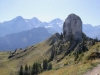 vo Gumihorn 2099m; hi Eiger 3970m, Mönch 4099m, Jungfraujoch, Jungfrau 4158m