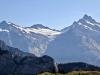 Wetterhorn 3704m, Mittelhorn 3704m, Bärglistock 3656m, Kl.Schreckhorn 3494m,  Schreckhorn 4078m, Lauteraarhorn 4042m