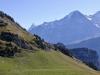 Finsteraarhorn 4275m, Fiescherhorn 4049m, Eiger 3970m, Mönch 4099m
