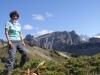 Marianne auf der Schynige Platte 1967m; Ussri Sägissa 2423m, Winteregg 2561m,  Bira 2453m