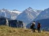 Scheideggwetterhorn, Wetterhorn 3704m, Berglistock 3656m, Schreckhorn 4078m, Lauteraarhorn 4042m