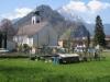 Kirche  von Stansstad mit Pilatus