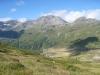 Sicht hinunter auf den Spittel; Galehorn 2797m , Magehorn 2621m