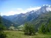 Blick  gegen Italien; Wenghorn, Bodmerhorn, Rothorn, Breitloigrat, Fletschhorn,  Wyssodenhorn