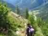 Sicht hinuntr nach Egga mit Reservoir; Webghorn, Bodmerhorn