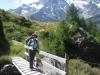 Marianne  auf Brücke über den Walibach