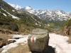 Blick auf Fletschhorn 3904m, Bodmerhorn,  Wenghorn, Rauthorn/ Böshorn 3268m, Galehorn 2797m