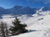SIcht beim Aufstieg nach Hopsche; Rauthorn/ Böshorn 3268m, Galehorn 2797m , Magehorn 2621m