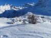 Blick hinunter auf Hopsche und Simplonpass; Mäderhorn 2852m, Monte Leone  3552m, Hübschhorn 3192m