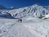 auf dem WInterwanderweg;  Magehorn 2621m, Sraffelgrat  2633m