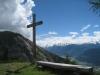 Aussichtspunkt: Felsfluhen des Schwarzhorns; Jolibachschlucht