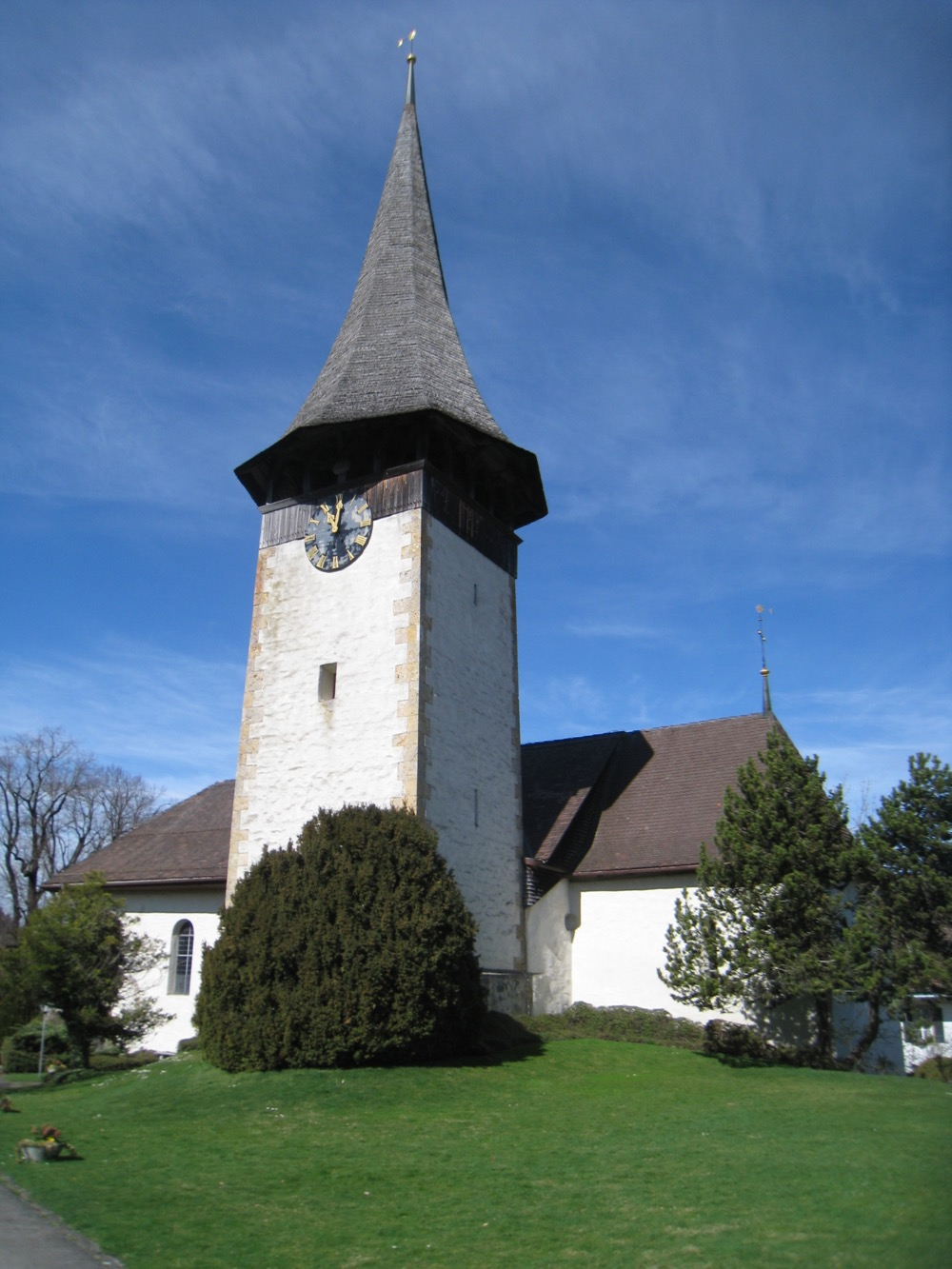 die Kirche von Aeschi