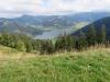 Blick auf den Gross-und Chli Aubrig und Sihlsee