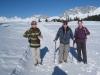 Brigitte, Hanspeter und Bruni vor der Drusenfluh