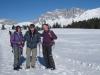Marianne, Hanspeter und Bruni vor der Drusenfluh
