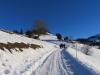 auf Stelserberg Mottis 1470m; Beginn der Wanderung auf Strase