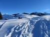 auf dem Aufstieg zum Gafäll 32042m; li Chüenihorn 2412m; re Chrüz 2106m