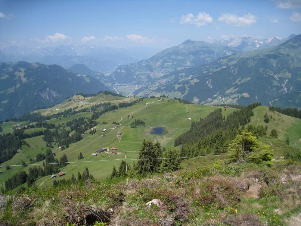 Blick von Gafäll auf Stelsersee und Stelserberg