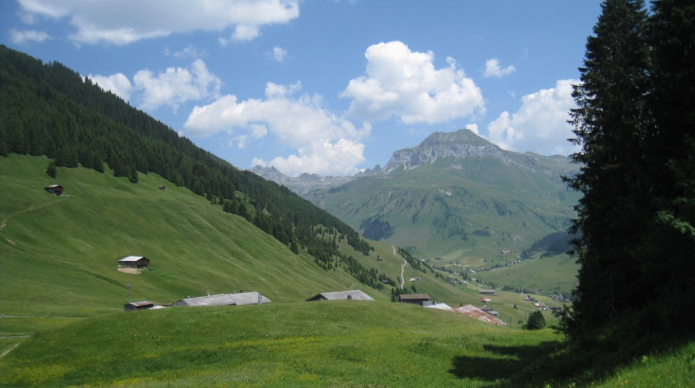 auf Aschüel; St. Antönien mit Schollberg 2570m
