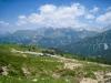 Alp Valpun ; Blick af Sassaun, Schesaplana, Girenspitz, Kirchlispitzen