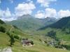 Blick auf St. Antönein mit Schollberg 2570m