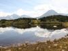 der oberen Bergsee; Oberalpstock  3328m, Witwenalpstock  3016m, Bristen 3073m,