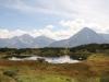 der obere Bergsee; Oberalpstock  3328m, Witwenalpstock  3016m, Bristen 3073m,