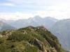 Blick auf  Sunnig Grat 2033m; Strahligen Stöckli 2928m, Frutstock 2838m, Chli Oberälpler  3085m,  Oberalpstock  3328m, Witwenalpstock  3016m